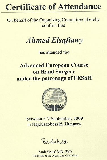 Advanced European Course on Hand Surgery FESSH 2009