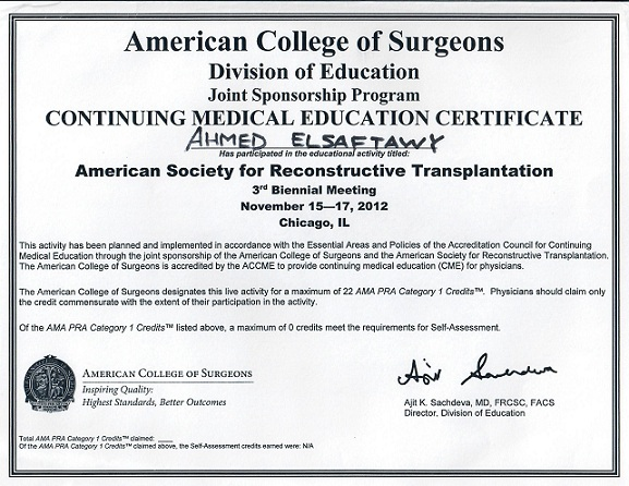 American College of Surgeons 2012