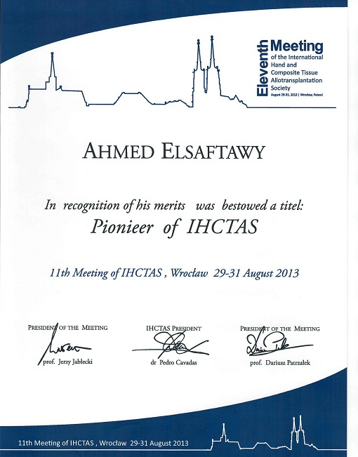 Pionieer of IHCTAS 2013